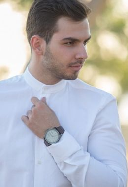 Collar Detailed White Shirt